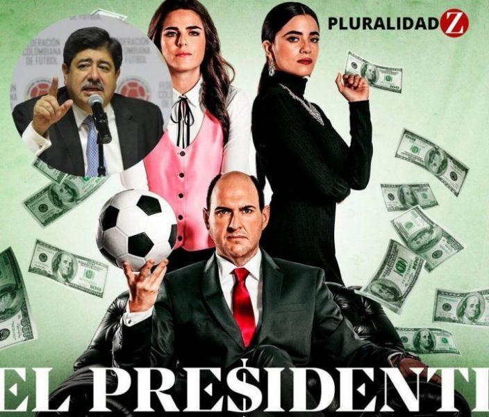 El expresidente de la FCF, Luis Bedoya en la serie El presidente de Amazon