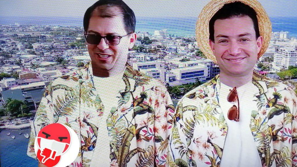Fiscal Barbosa de paseo en San Andrés con amigo del presidente Iván Duque