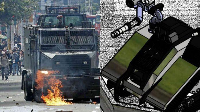policia nacional de colombia esmad nuevas tanquetas