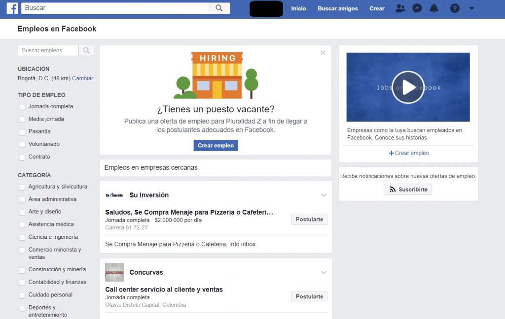 facebook empleo