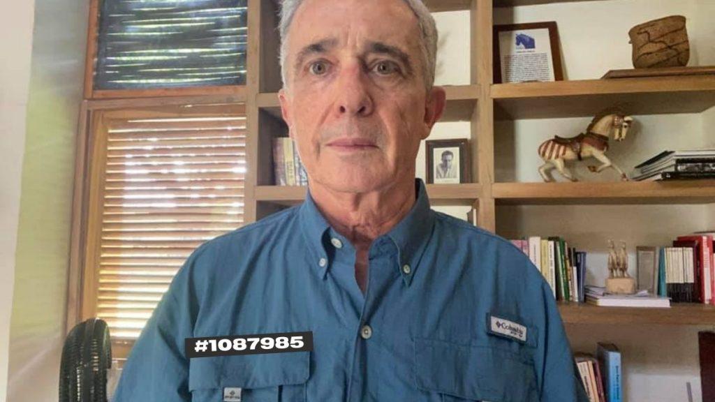 Álvaro Uribe revela el número de preso que le dio el Inpec