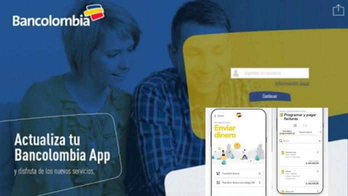 Actualización de la App Bancolombia