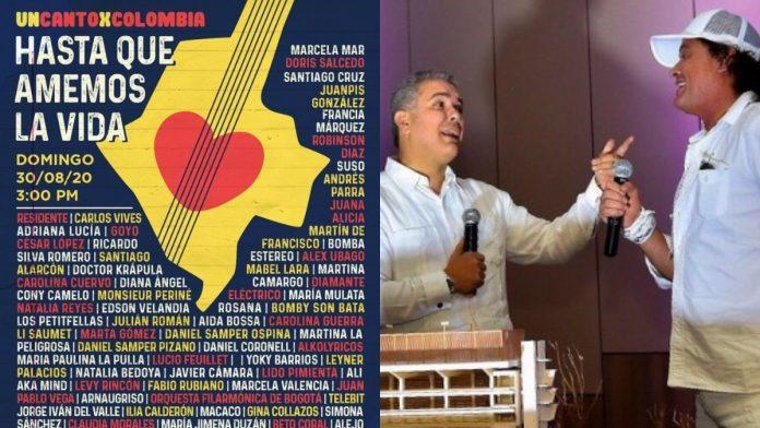 Cuestionan la participación de Carlos Vives en UnCantoXColombia