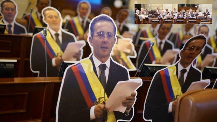 Imágenes de Álvaro Uribe Vélez en el Congreso de Colombia