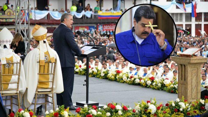 Iván Duque y Nicolás Maduro orando