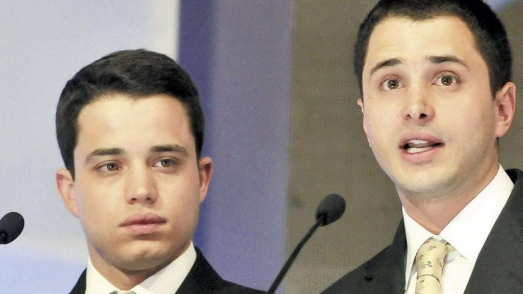 Jeronimo Uribe y Tómas Uribe (Hijos del expresidente Álvaro Uribe Vélez)