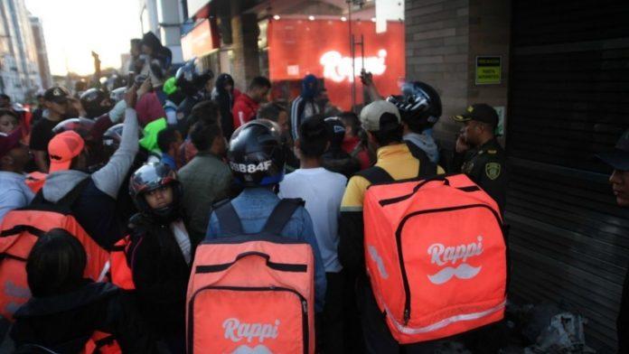 Paro de RappiTenderos en Colombia
