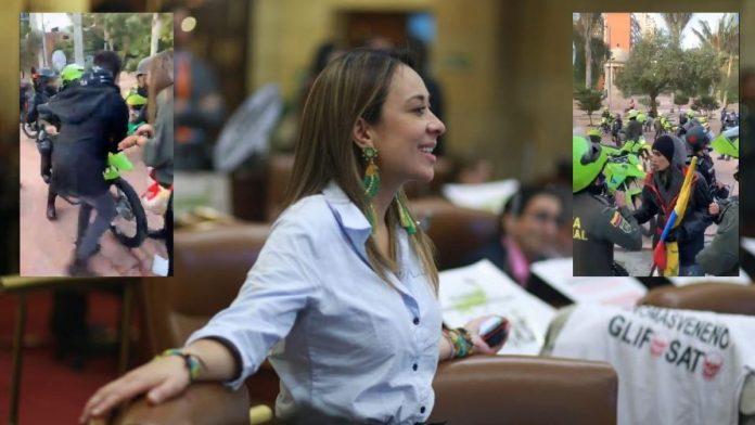 A Katherine Miranda la golpeó la Policía de Colombia