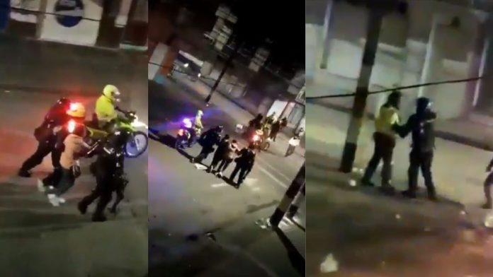Agente del Esmad se enfrentó a otro policía que le estaba pegando a un detenido