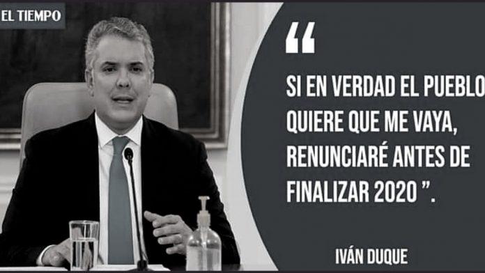 Algunos se ilusionaron con una posible renuncia del presidente Iván Duque