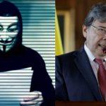 Anonymous pide la renuncia del ministro de Defensa Carlos Holmes Trujillo
