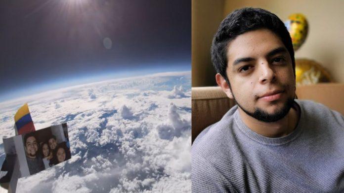 Artista boyacense logra ver el planeta tierra con una cámara unida a un globo de helio