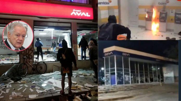 Bancos Colombia vandalos