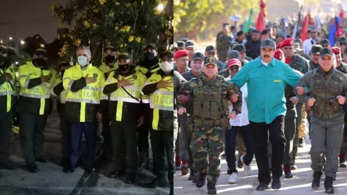 Comparan a Duque con Maduro tras conocerse foto de Duque vestido de policía