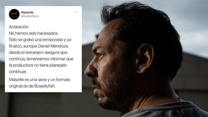 Daniel Mendoza Leal cuenta de Twitter serie Matarife