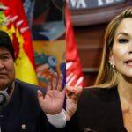 Evo Morales y la presidenta de Bolivia