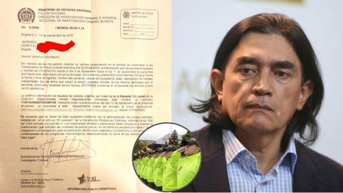 Gustavo Bolívar cuestiona intención de la policía al solicitar información de manifestantes heridos en Bogotá