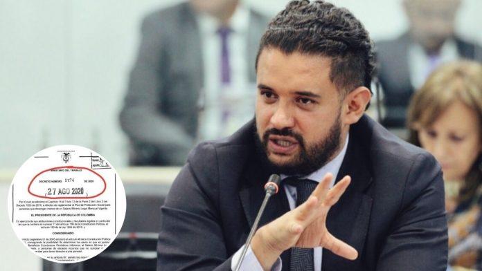 Inti Asprilla radicó demanda de nulidad contra Decreto 1174 de 2020
