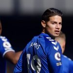 James Rodríguez marca su primer gol con el Everton