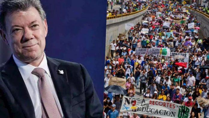 Juan Manuel Santos Protestas sociales