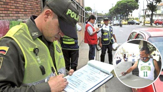 Policías casi multan a hombre que parqueó mal la moto para ayudar a pintar el CAI del barrio