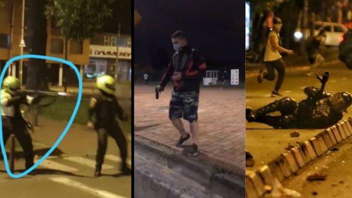 Policías disparan contra manifestantes y dejan varios muertos en Bogotá