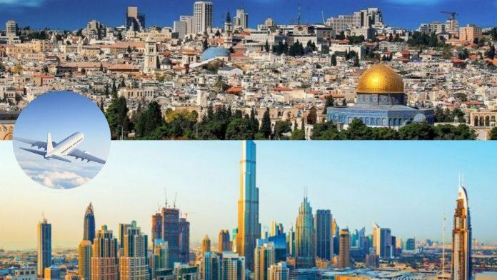 Primer vuelo comercial entre Israel y Emirates Arabes Unidos.