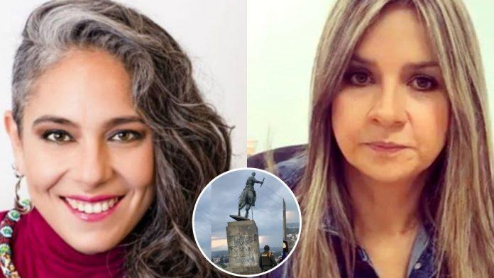 Respuesta de María José Pizarro a Vicky Dávila sobre indígenas que derrumbaron estatua en Popayan