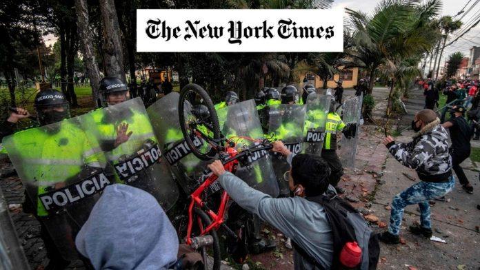 The New York Times protestas en Colombia