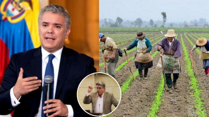 Wilson Arias denuncia paquetazo agrario de Duque que regala terrenos de los colombianos a las multinacionales