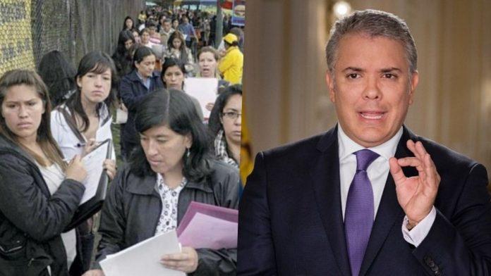 desempleo en mujeres colombianas