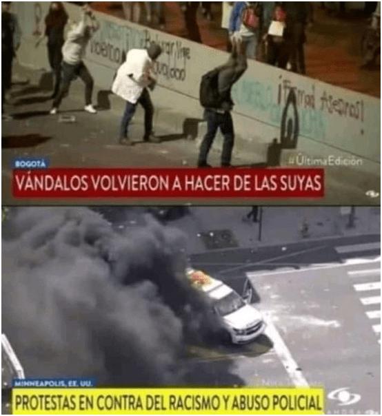 protestas medios colombianos