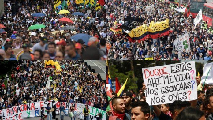 marchas protestas manifestaciones 13 de septiembre 2020 Colombia