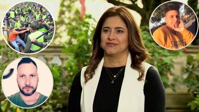 A la primera dama, María Juliana Ruiz, le asusta más la agresión ciudadana que la represión policial