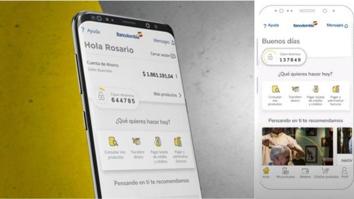 Bancolombia aplicación