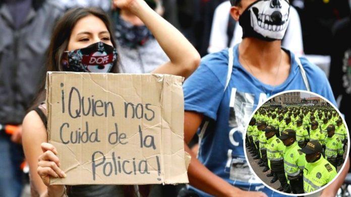 Bogotanos ya no confían en la Policía y exigen una reforma