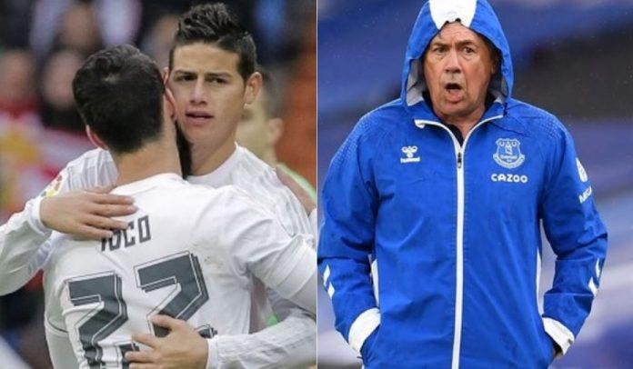 James Rodríguez e Isco juntos nuevamente en Everton según prensa inglesa
