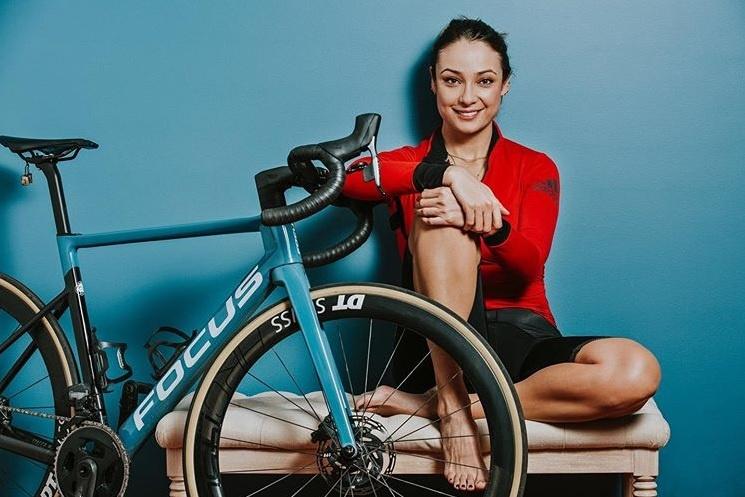 Mónica Jaramilo y su pasión por la bicicleta.