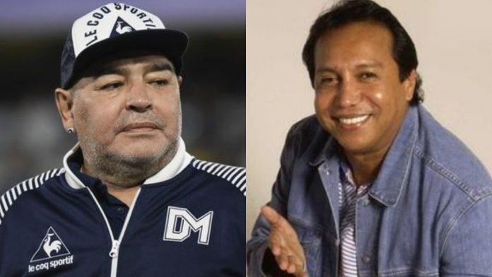Diego Maradona y Diomedes Diaz