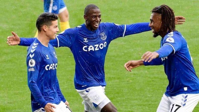 James Rodríguez Everton VS Leeds