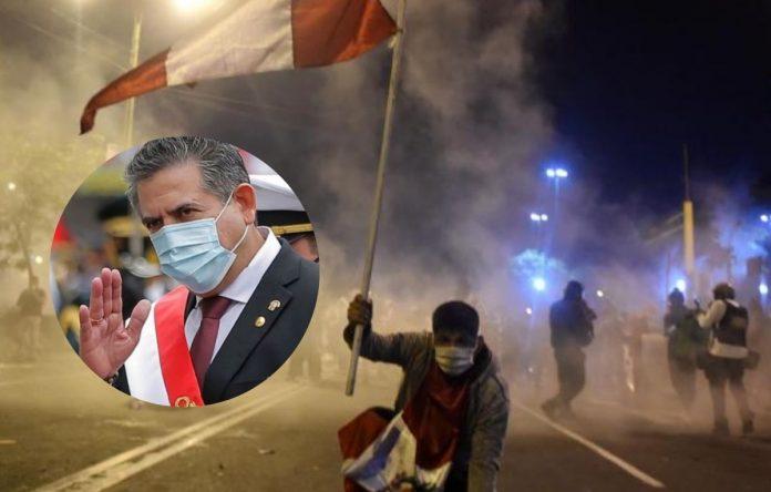 Manuel Merino renuncia a la presidencia del Perú tras protestas por presunta dictadura.