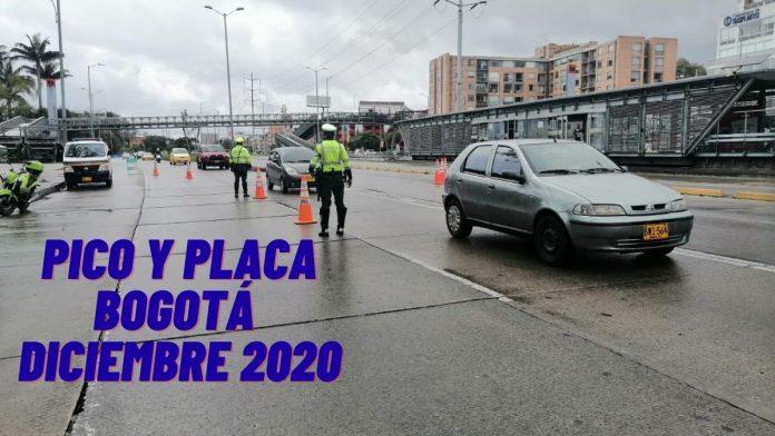 Pico y placa Bogotá diciembre 2020