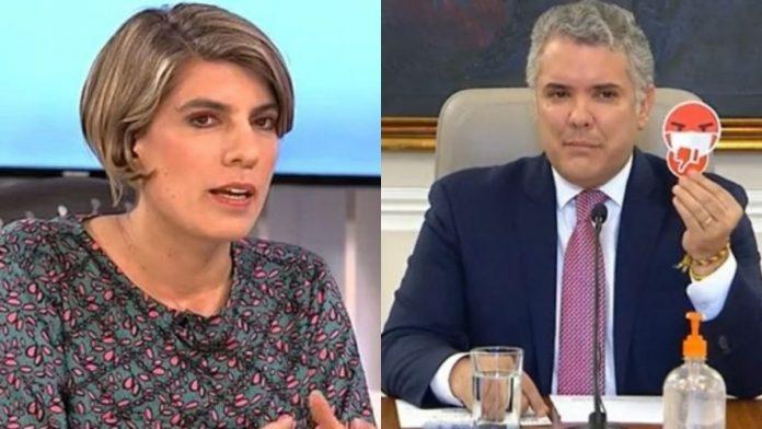 Sara Tufano arremete contra Iván Duque