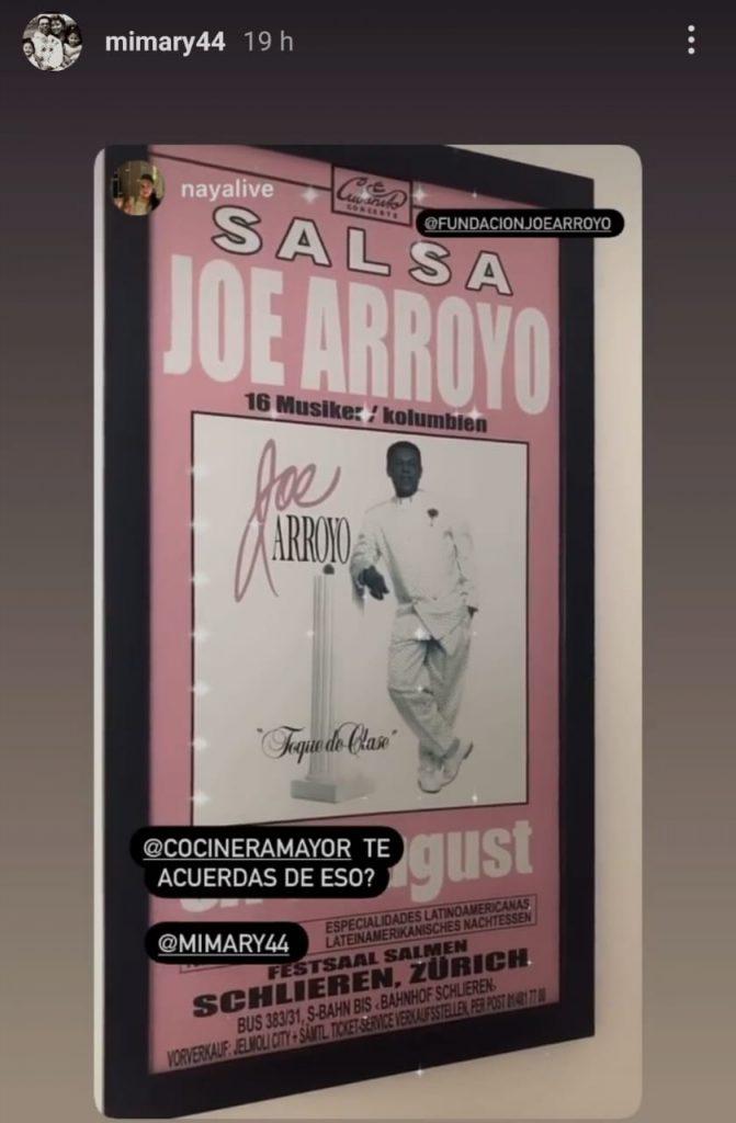 Joe Arroyo vestido de blanco