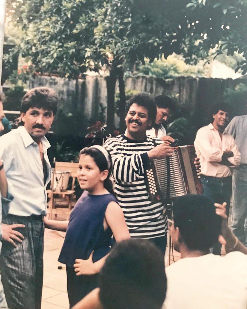 Rafael Orozco y su hija Kelly Orozco