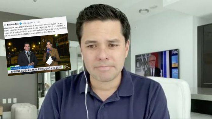 A Luis Carlos Vélez no le perdonan su mal periodismo frente a las elecciones de Estados Unidos