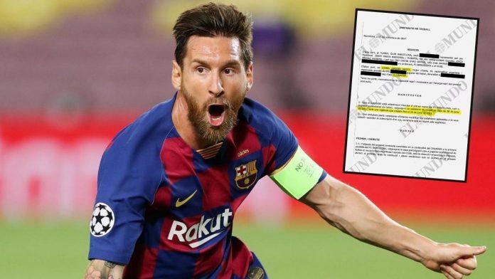 Contrato millonario entre Leo Messi y FC Barcelona