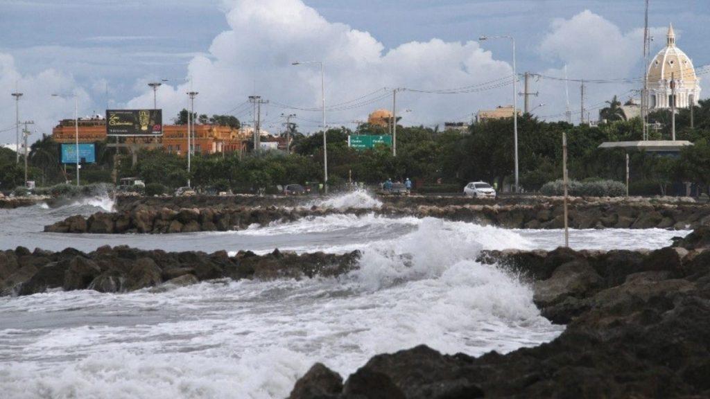 Fuertes vientos y oleaje en la Costa Caribe
