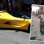 J Balvin mostró su Ferrari en Medellín
