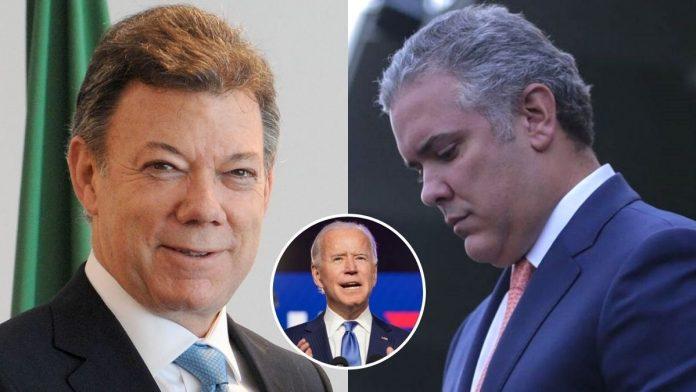 Santos fue invitado en lugar de Duque a posesión de Biden